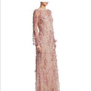 David Meister Long Sleeved Blush Dress